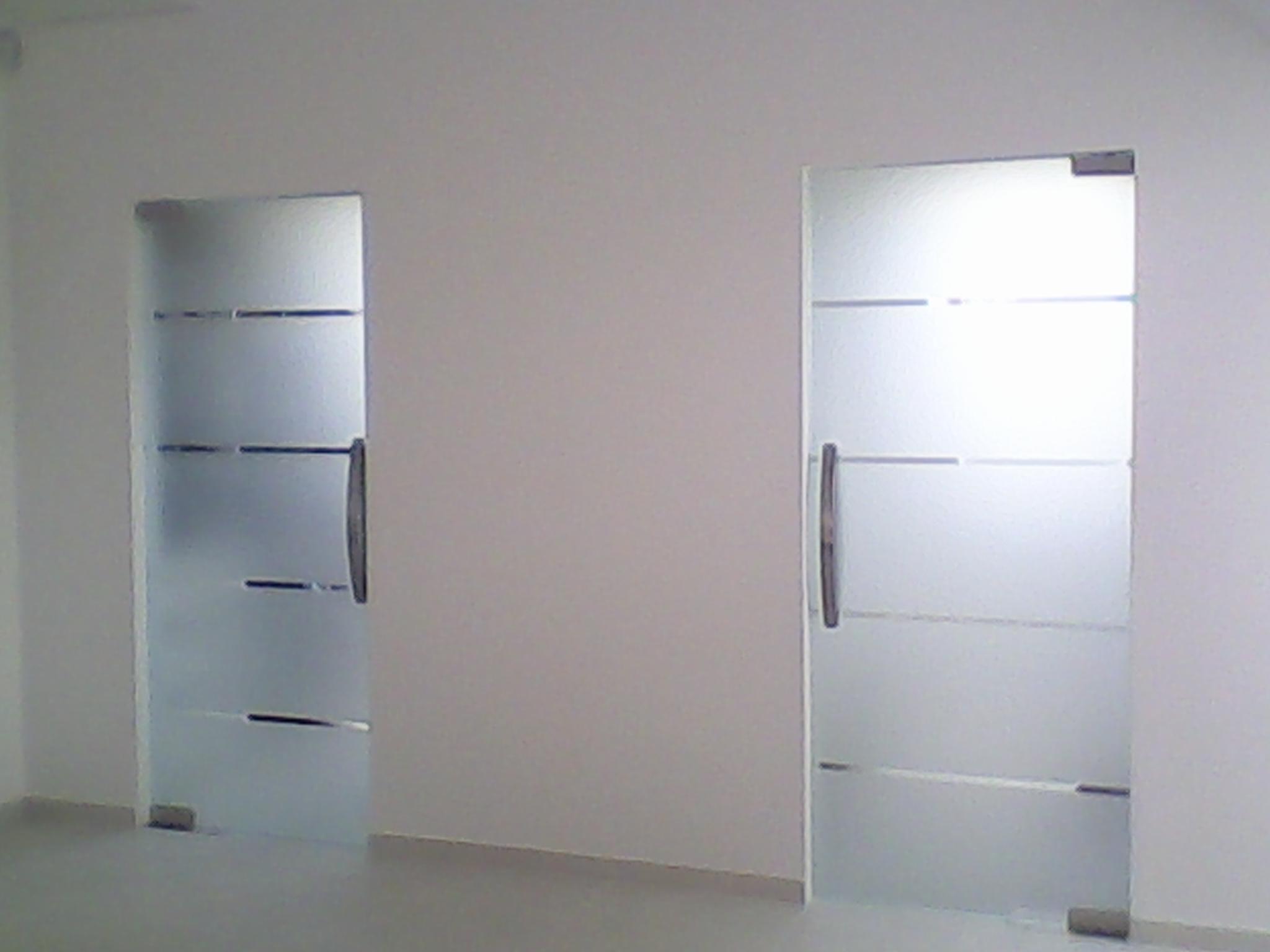 Realizacje Drzwi Szklane Do łazienki Wzór Piaskowany
