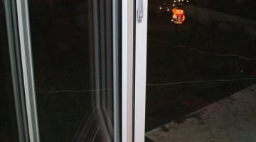 Drzwi aluminiowe harmonijkowe, zabudowa tarasu.
